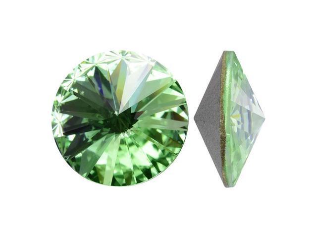 Swarovski Crystal, #1122 Rivoli Fancy Stones 12mm, 4 Pieces, Chrysolite Sf