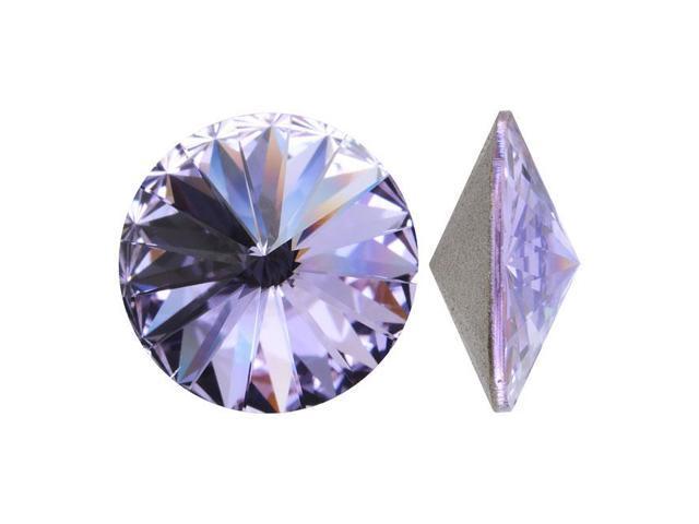 Swarovski Crystal, #1122 Rivoli Fancy Stones 12mm, 4 Pieces, Violet Sf