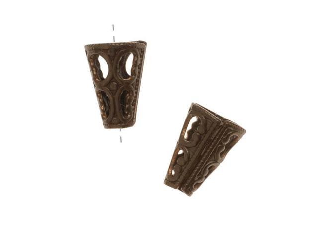 Vintaj   Natural Filigree Cone End Caps For Beads  (2)