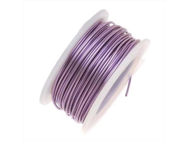 Artistic Wire, Silver Plated Craft Wire 18 Gauge Thick, 4 Yard, Amethyst Purple
