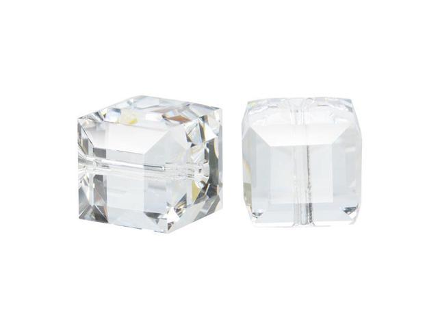 Swarovski Crystal, #5601 Cube Beads 10mm, 2 Pieces, Crystal