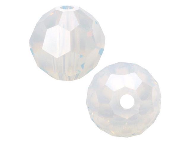 Swarovski Crystal, #5000 Round Beads 6mm, 10 Pieces, White Opal