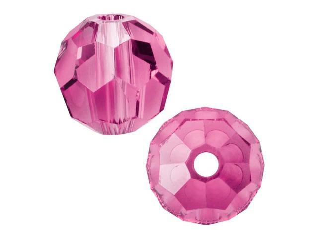 Swarovski Crystal, #5000 Round Beads 6mm, 10 Pieces, Rose