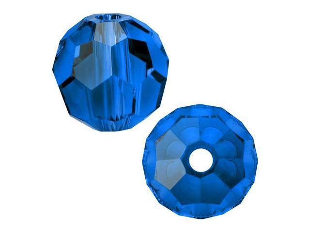 Swarovski Crystal, #5000 Round Beads 6mm, 10 Pieces, Capri Blue
