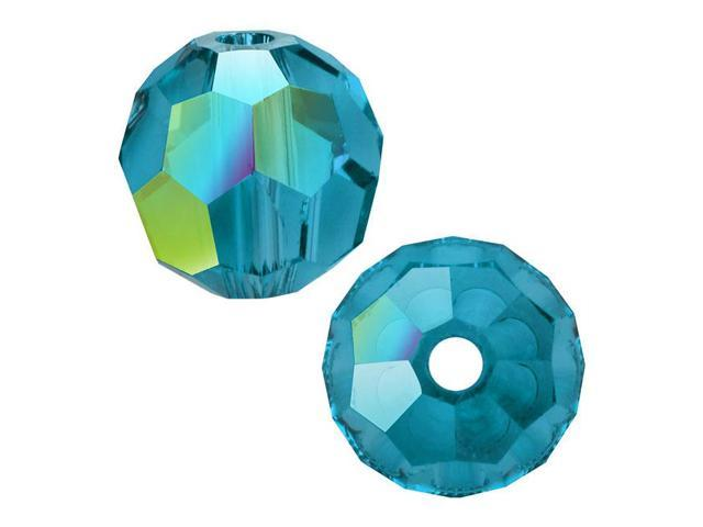 Swarovski Crystal, #5000 Round Beads 6mm, 10 Pieces, Indicolite AB
