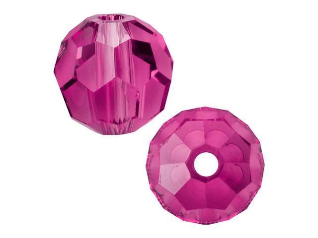 Swarovski Crystal, #5000 Round Beads 2mm, 20 Pieces, Fuchsia