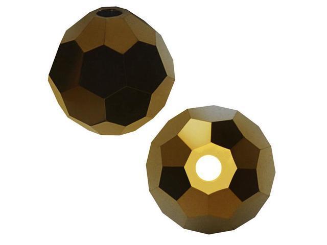 Swarovski Crystal, #5000 Round Beads 4mm, 12 Pieces, Crystal Dorado 2X
