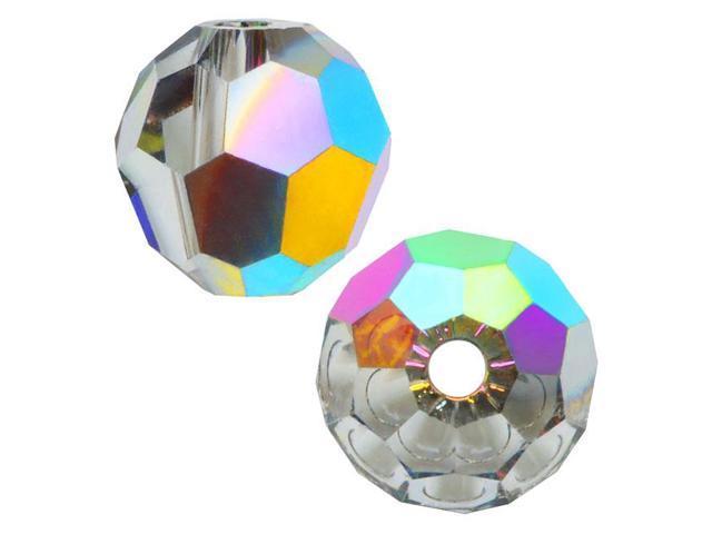 Swarovski Crystal, #5000 Round Beads 8mm, 8 Pieces, Crystal Vitrail Medium