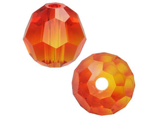 Swarovski Crystal, #5000 Round Beads 4mm, 12 Pieces, Fire Opal