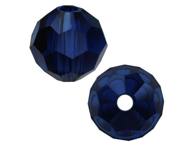 Swarovski Crystal, #5000 Round Beads 4mm, 12 Pieces, Dark Indigo