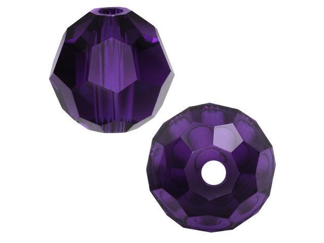 Swarovski Crystal, #5000 Round Beads 4mm, 12 Pieces, Purple Velvet