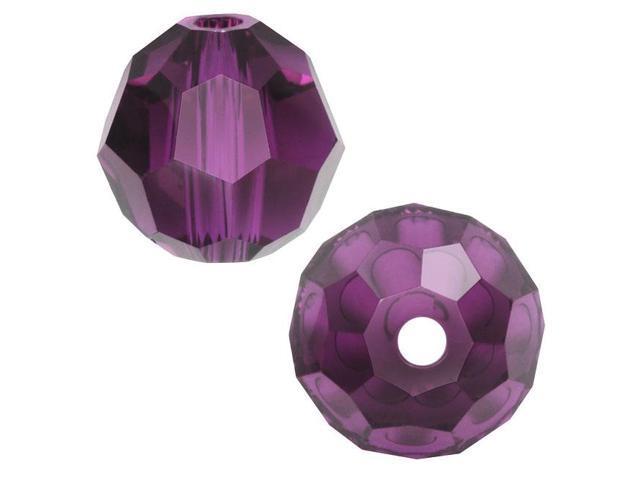 Swarovski Crystal, #5000 Round Beads 4mm, 12 Pieces, Amethyst