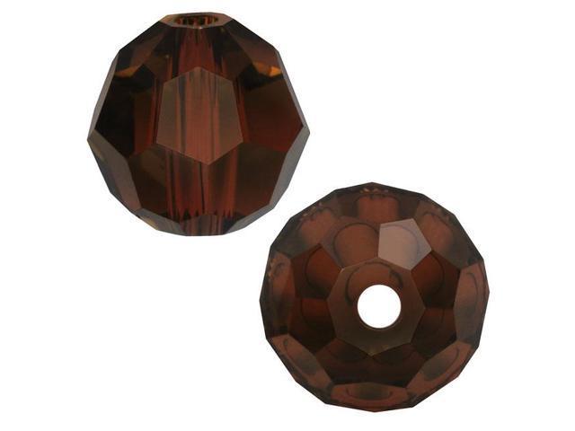 Swarovski Crystal, #5000 Round Beads 4mm, 12 Pieces, Mocca