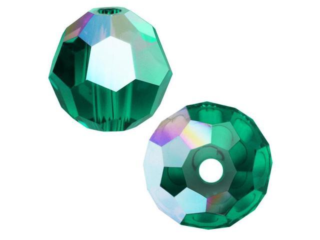 Swarovski Crystal, #5000 Round Beads 4mm, 12 Pieces, Emerald AB