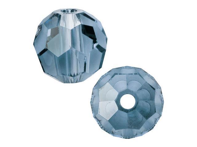 Swarovski Crystal, #5000 Round Beads 4mm, 12 Pieces, Indian Sapphire