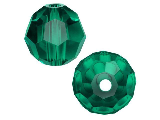 Swarovski Crystal, #5000 Round Beads 8mm, 8 Pieces, Emerald