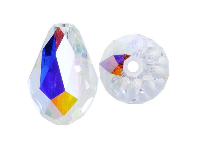 Swarovski Crystal, #5500 Drop Beads 12mm, 4 Pieces, Crystal AB