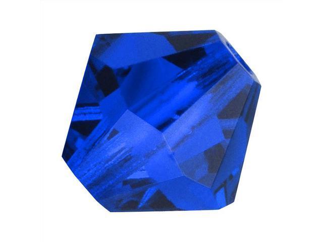 Preciosa Czech Crystal Bicone Beads 6mm Capri Blue /20