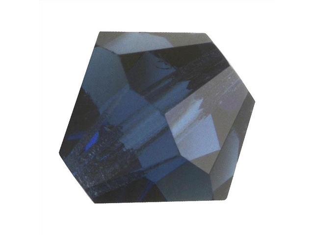 Preciosa Czech Crystal Bicone Beads 6mm Montana Blue/20