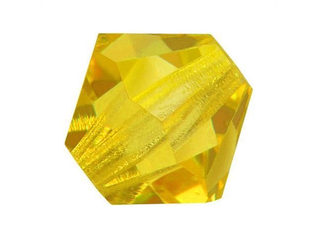 Czech Crystal Bicone Beads 6mm 'Citrine' Yellow (20)