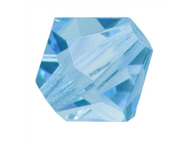 Czech Crystal Bicone Beads 8mm 'Aquamarine' Blue (8)