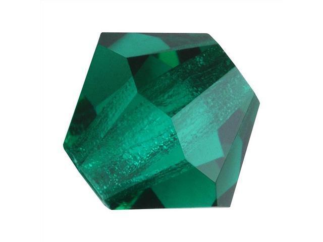 Czech Crystal Bicone Beads 8mm 'Emerald' Green (8)