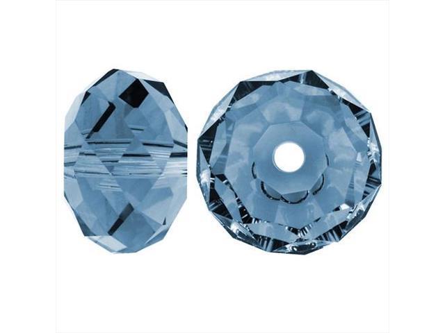 Swarovski Crystal, #5040 Rondelle Beads 4mm, 12 Pieces, Denim Blue