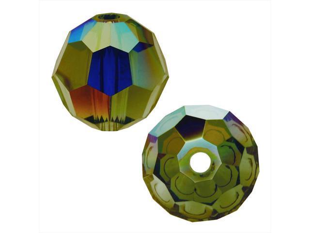 Swarovski Crystal, #5000 Round Beads 4mm, 12 Pieces, Olivine AB