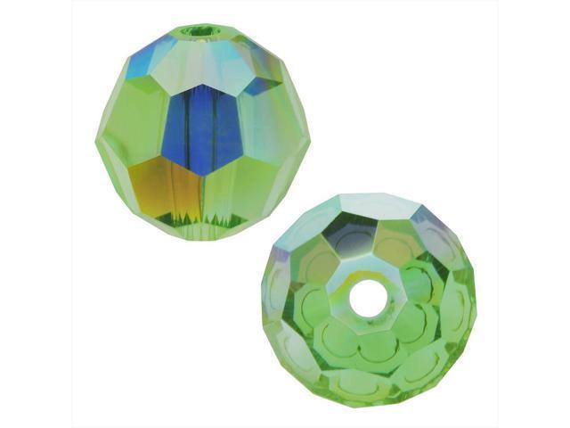Swarovski Crystal, #5000 Round Beads 4mm, 12 Pieces, Peridot AB