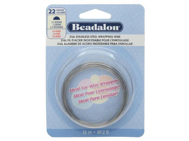 Stainless Steel Half Round Wire 22 Gauge 15Meter/49.2Ft