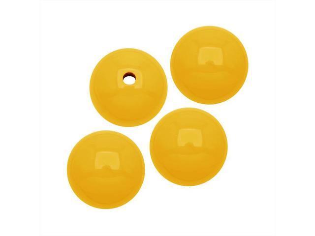Smooth Acrylic Round Beads - Yellow - 10mm (36)