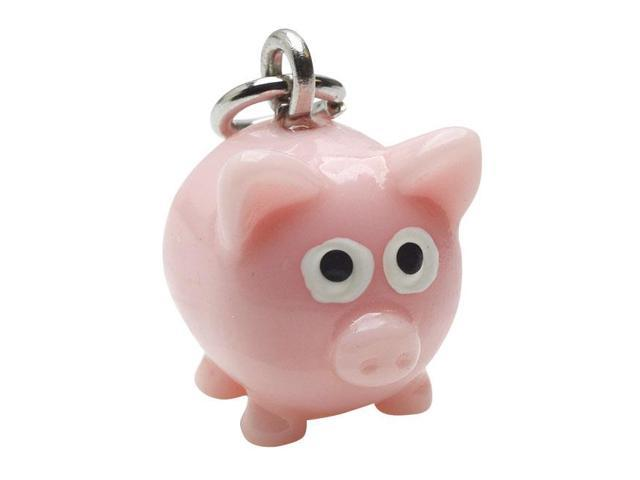 Hand Painted 3D Cute Pig Lightweight Jewelry Charm (1)