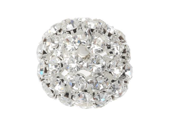 Beadelle Crystal 28mm Rhinestone Ball - Silver Plated / Crystal (1 Bead)