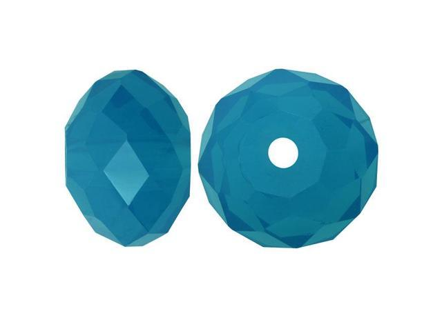 Swarovski Crystal, #5040 Rondelle Beads 6mm, 10 Pieces, Caribbean Blue Opal