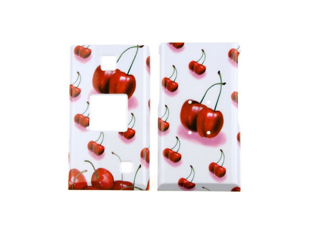Solid Plastic Phone Design Cover Case Cherry For Kyocera Mako S4000