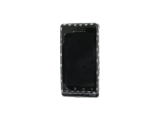 Design Plastic Phone Protector Case Cover Polka Dots For Motorola Droid A855