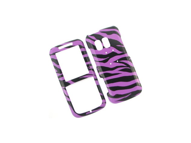 Solid Plastic Phone Design Cover Case Purple Zebra For Samsung Messager R450