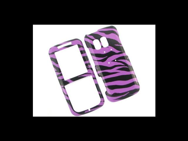 Solid Plastic Phone Design Cover Case Purple Zebra For Samsung Messager R450