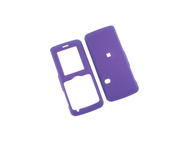 Rubberized Plastic Solid Phone Cover Case Dark Purple For Cricket A100