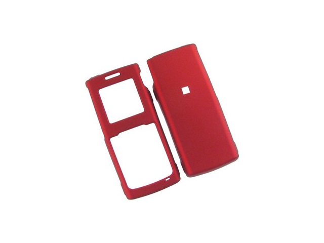 Rubber Coated Plastic Phone Cover Case Red For Samsung R211