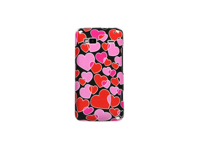 Reinforced Plastic Phone Design Cover Case Flowing Hearts For T-Mobile G2
