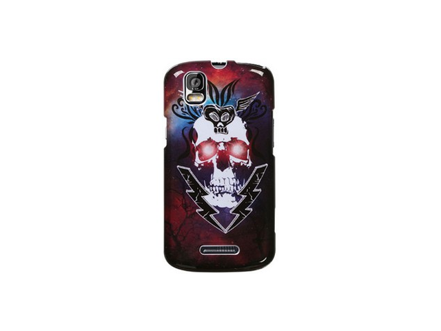Snap On Plastic Design Cover Case Ligtning Skull For Motorola Droid Pro
