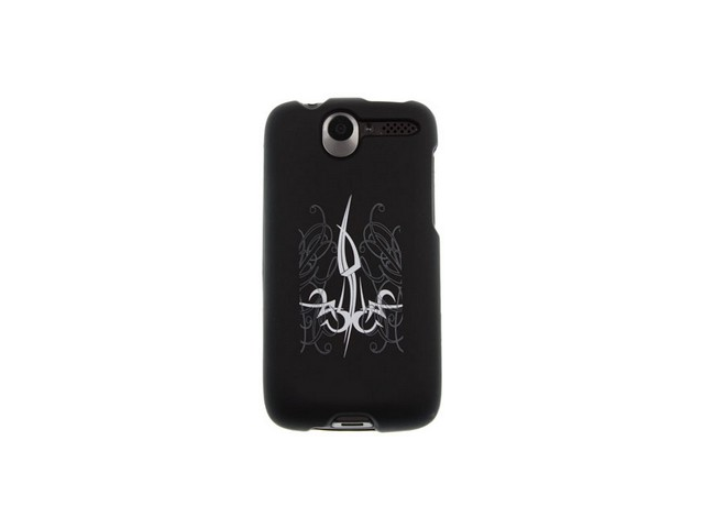 Rubber Coated Design Phone Case Tattoo For HTC Desire