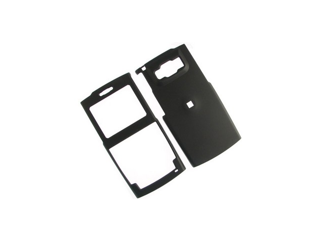 Rubberized Plastic Proguard Case Black For Samsung ACE i325