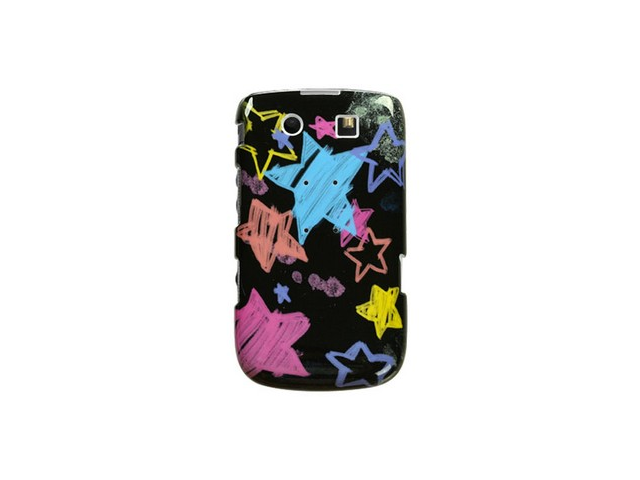 Snap On Plastic Image Phone Cover Case Chalkboard Star Black For BlackBerry Torch 9800 9810