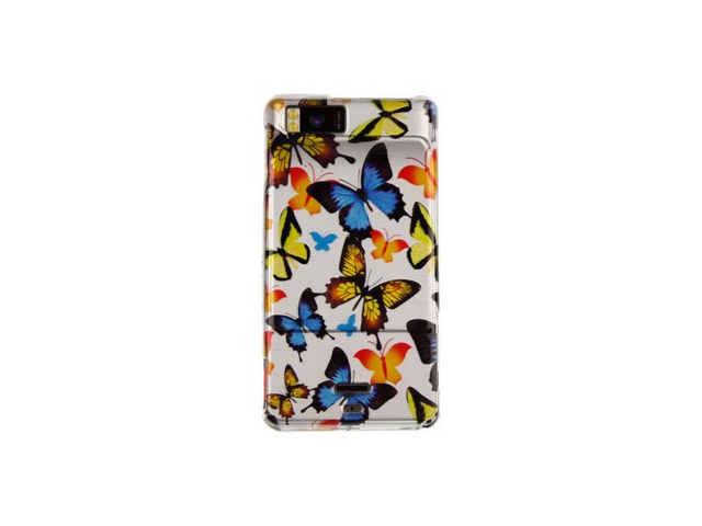 Solid Plastic Phone Design Cover Case Butterfly For Motorola Droid X
