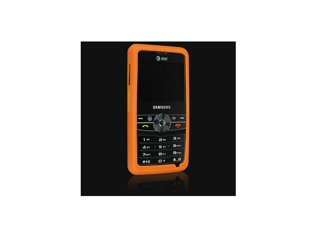 Orange Silicone Protector Skin Case For Samsung Access A827