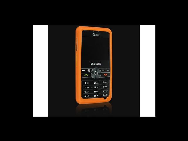 Orange Silicone Protector Skin Case For Samsung Access A827