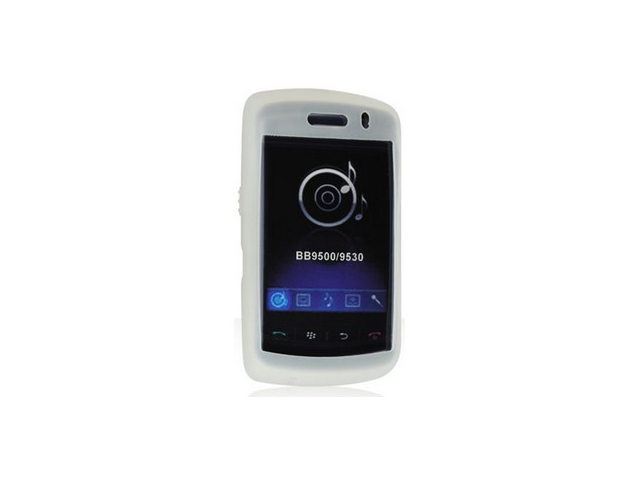 White Protective Silicone Cover Case For BlackBerry Storm 9500 9530