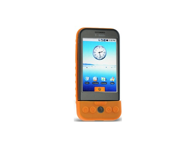 Orange Silicone Protective Cover Case For T-Mobile G1